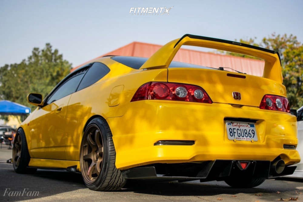 Poke 2005 Acura RSX with 18x9.5 Gram Lights 57DR & Toyo Tires Extensa Hp Ii 225/35 on Coilovers - Fitment Industries Gallery