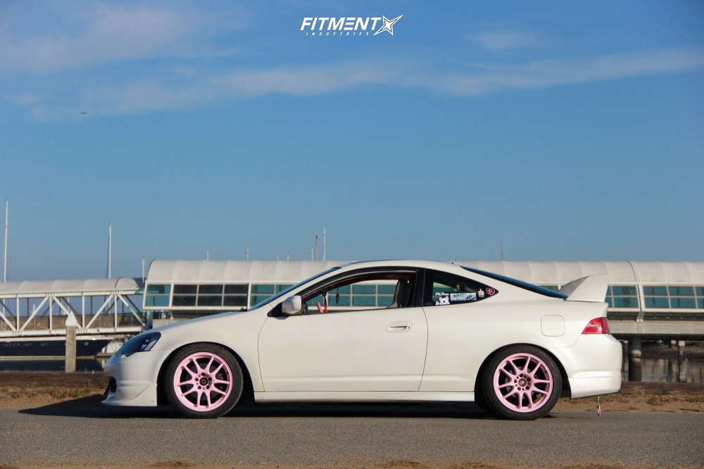 Nearly Flush 2002 Acura RSX with 17x8 Work Emotion & Federal 595 Ss 225/45 on Coilovers - Fitment Industries Gallery