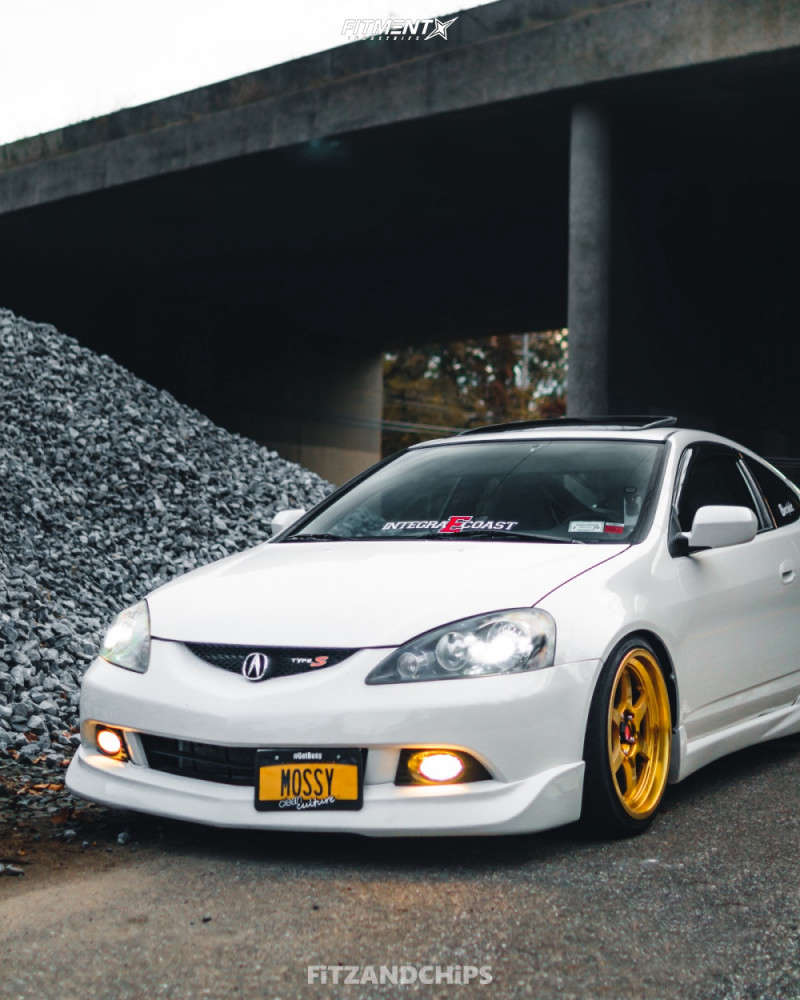 Nearly Flush 2002 Acura RSX with 18x8.5 Aodhan Ah08 & Yokohama Advan 205/40 on Coilovers - Fitment Industries Gallery