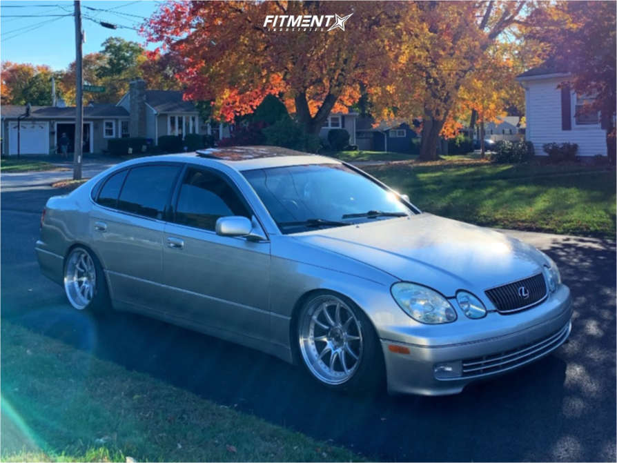 Nearly Flush 2001 Lexus GS300 with 18x9.5 Aodhan Ds07 & Nankang NS-25 215/40 on Coilovers - Fitment Industries Gallery
