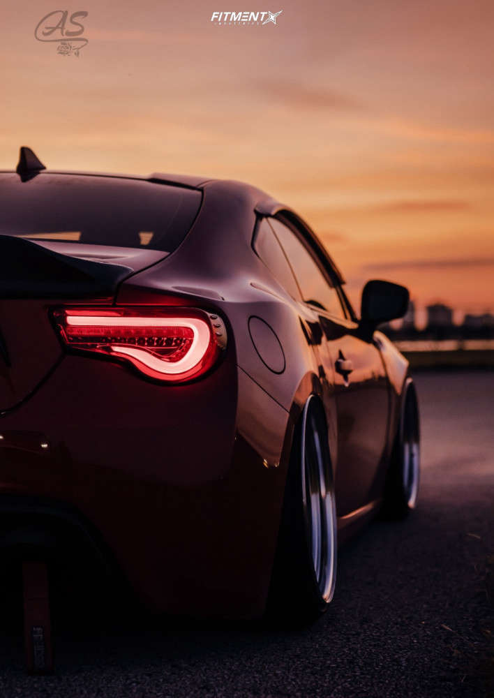 HellaFlush 2015 Scion FR-S with 18x10 Work Meister S1 3P & Landsail Ls588 215/35 on Air Suspension - Fitment Industries Gallery