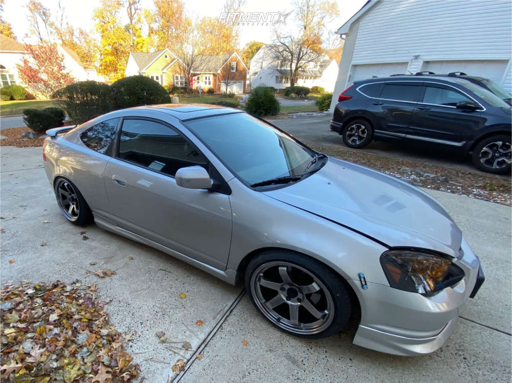 Tucked 2004 Acura RSX with 18x9.5 AVID1 AV6 & Nankang NS-25 225/40 on Coilovers - Fitment Industries Gallery
