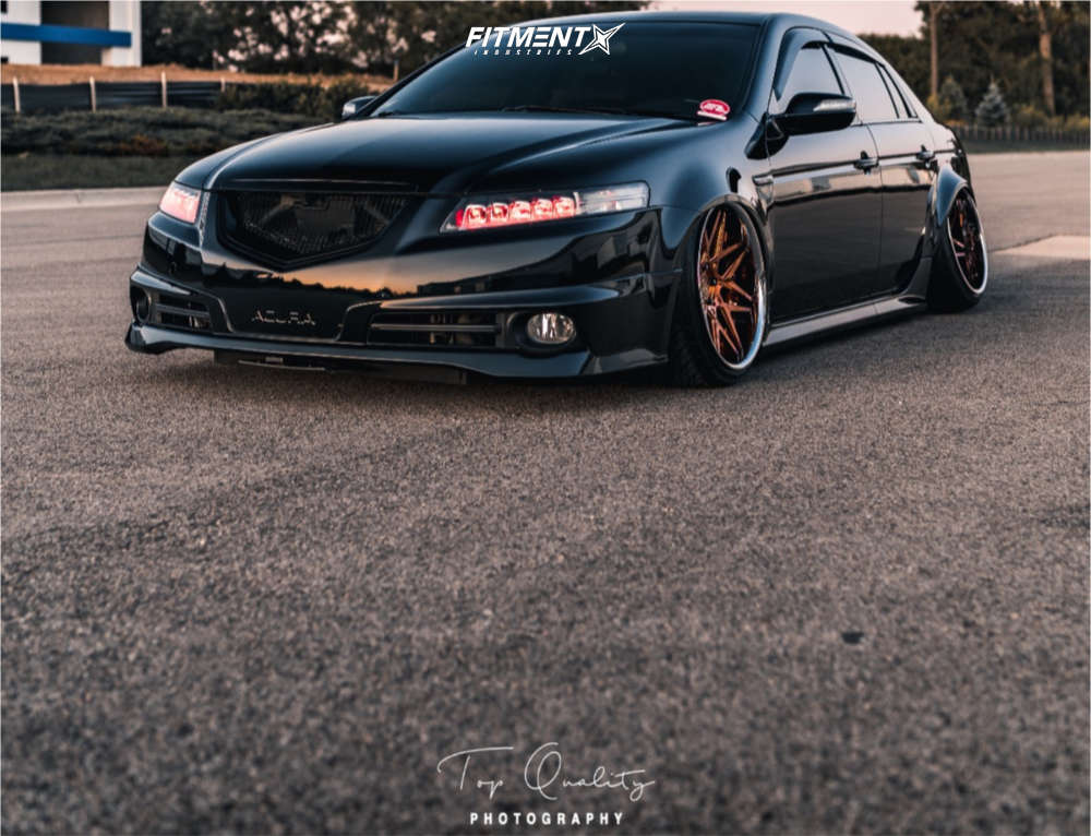 Tucked 2006 Acura TL with 19x10 VIP Modular VR13 & Federal 595 Ss 235/35 on Air Suspension - Fitment Industries Gallery