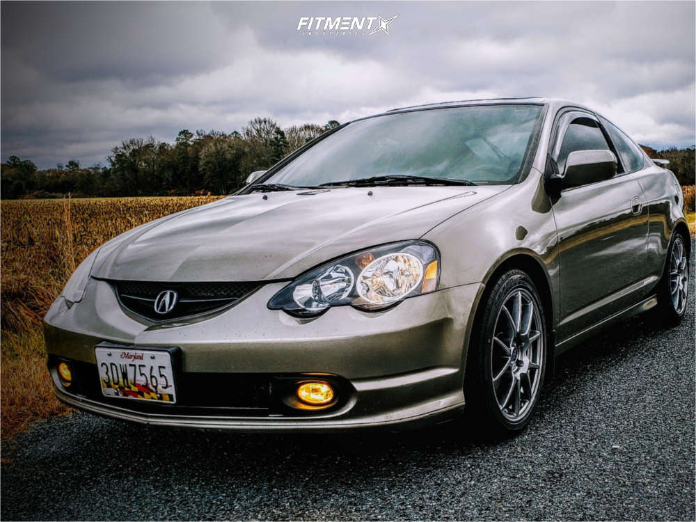 Nearly Flush 2002 Acura RSX with 17x7.5 Enkei Ys5 & Falken Sincera Sn250 A/s 215/45 on Coilovers - Fitment Industries Gallery