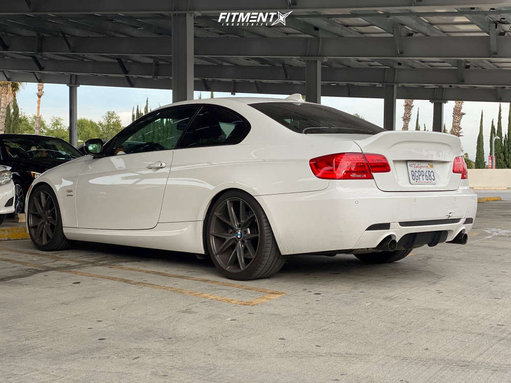 Tucked 2011 BMW 335is with 19x8.5 Niche Misano and Nankang NS-20 255/35 on Stock Suspension - Fitment Industries Gallery