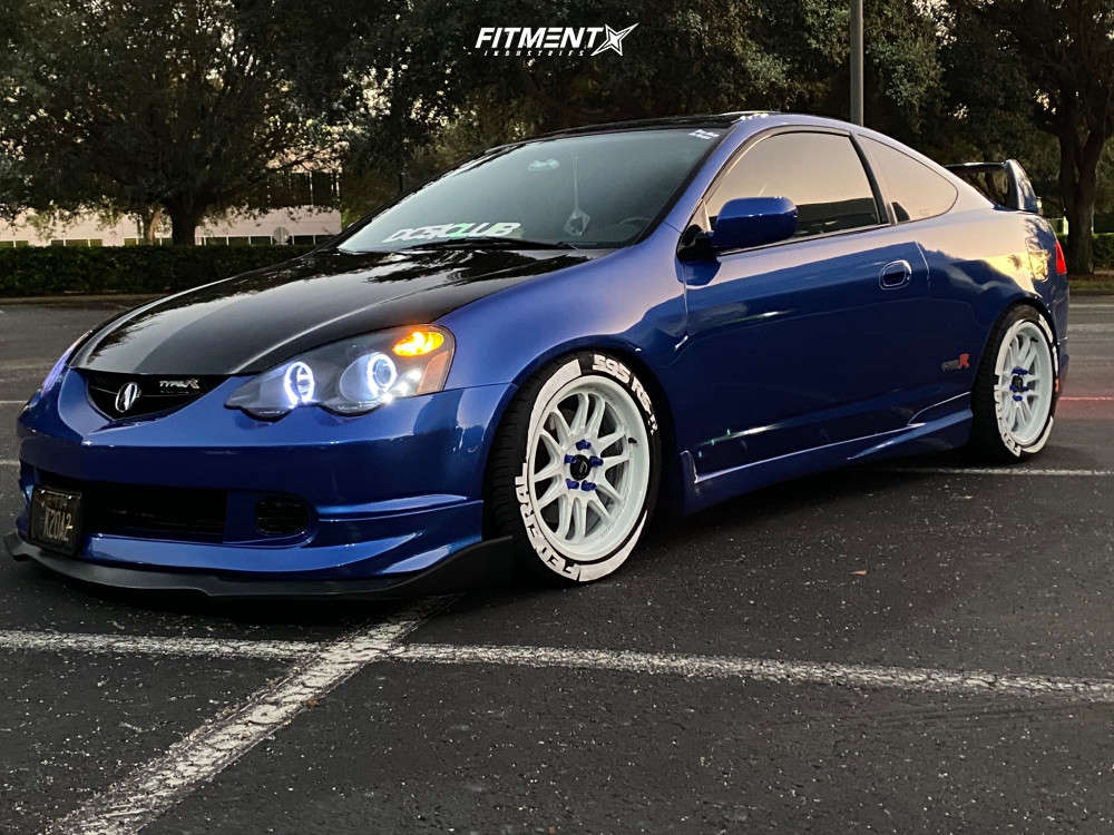 Tucked 2004 Acura RSX with 17x8 Cosmis Racing XT-206R & Federal 595 Rs-r 235/40 on Coilovers - Fitment Industries Gallery