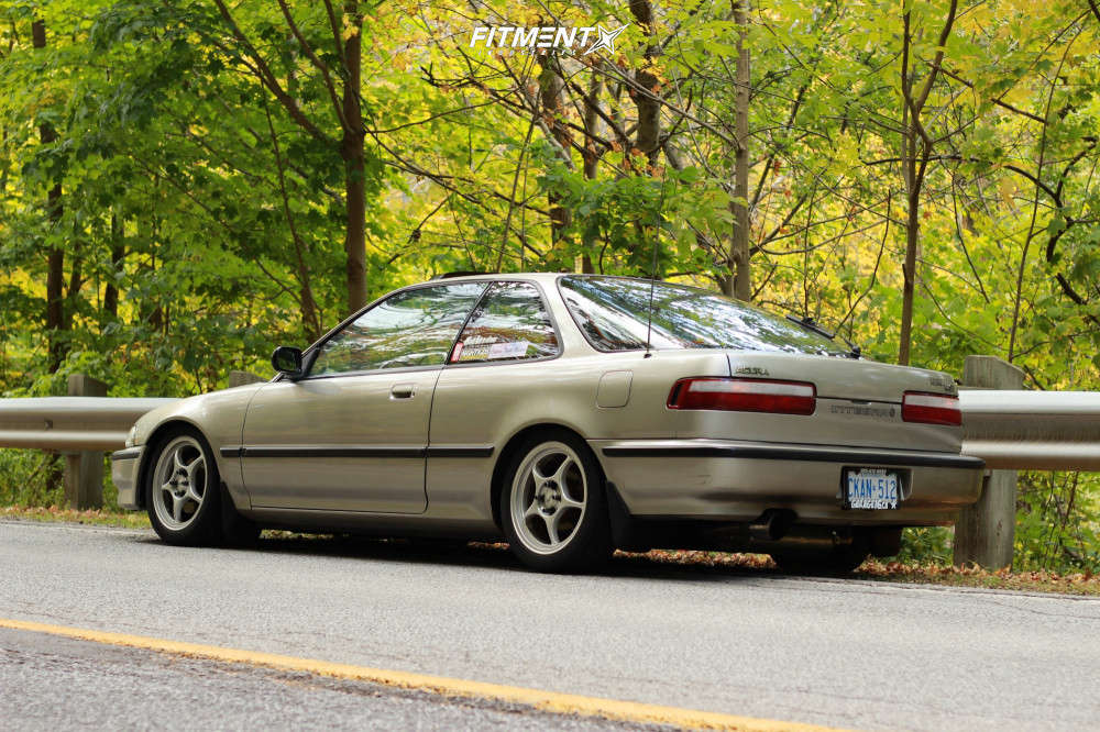 Tucked 1990 Acura Integra with 16x7 Enkei Rp01 & Continental Extremecontact Dws 205/50 on Coilovers - Fitment Industries Gallery