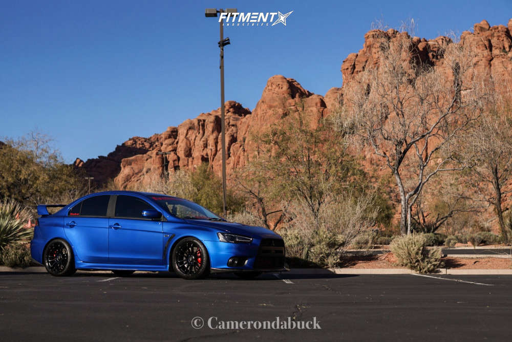 Flush 2015 Mitsubishi Lancer with 18x9.5 AVID1 AV20 & Goodyear Eagle Sport As 255/35 on Coilovers - Fitment Industries Gallery