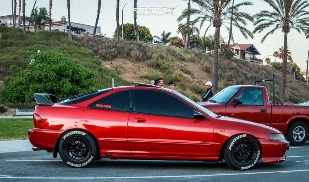 Flush 1994 Acura Integra with 16x8 Enkei RPF1 & Toyo Tires Proxes 4 Plus 205/50 on Coilovers - Fitment Industries Gallery