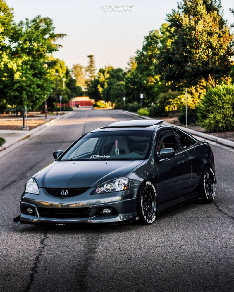 Flush 2006 Acura RSX with 17x9 Enkei RPF1 & Toyo Tires Proxes R888r 245/40 on Coilovers - Fitment Industries Gallery