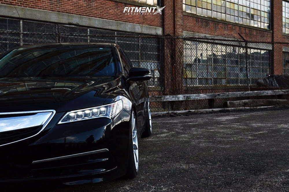 Nearly Flush 2015 Acura TLX with 20x9 Asanti Black Abl-13 & Lexani Lx-twenty 245/35 on Coilovers - Fitment Industries Gallery
