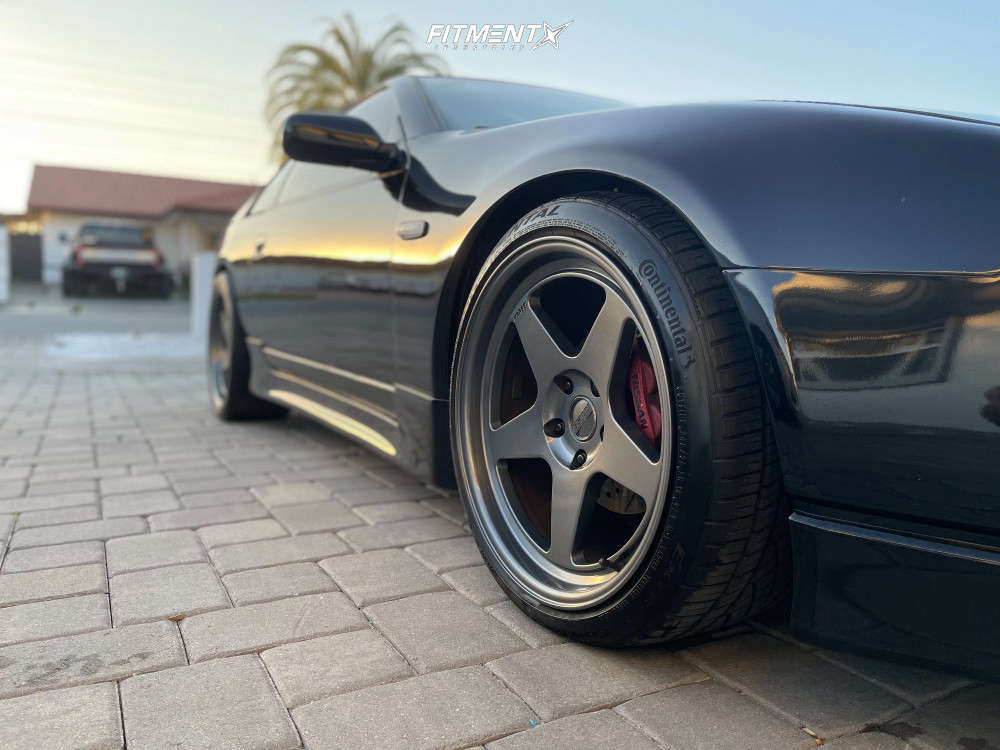 Flush 1996 Nissan 300ZX with 18x9.5 Kansei Knp & Continental Extreme Contact Dws06 245/40 on Coilovers - Fitment Industries Gallery
