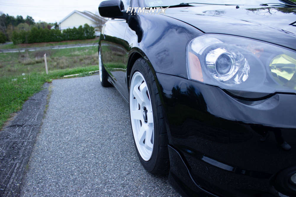 Flush 2004 Acura RSX with 17x8 AVID1 AV6 & Firestone Indy 500 225/45 on Coilovers - Fitment Industries Gallery
