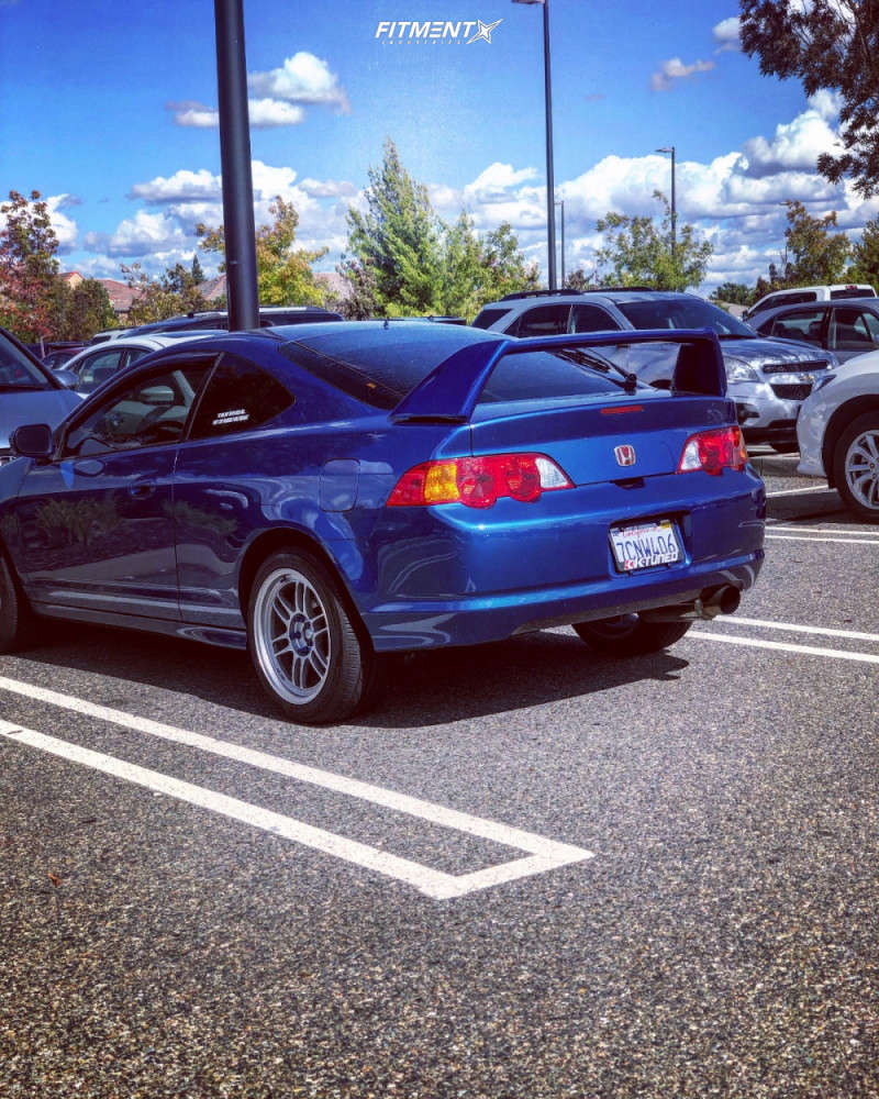 Flush 2004 Acura RSX with 17x9 Enkei RPF1 & Hankook Ventus V12 Evo 235/45 on Coilovers - Fitment Industries Gallery