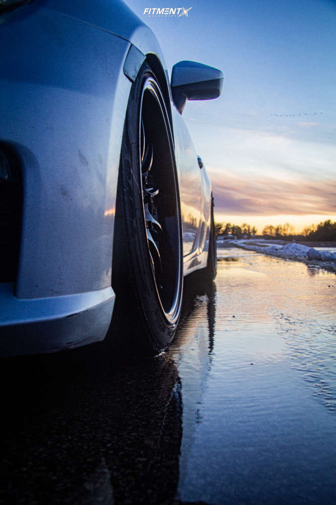 Flush 2013 Subaru BRZ with 18x9.5 Aodhan Ds07 & Toyo Tires Extensa Hp 245/35 on Coilovers - Fitment Industries Gallery