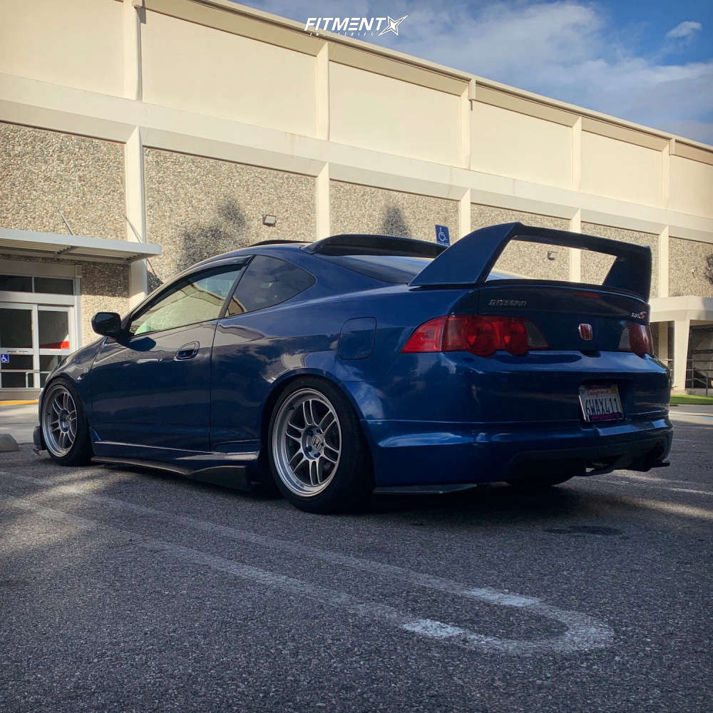 Flush 2004 Acura RSX with 17x9 Enkei RPF1 & Toyo Tires Extensa Hp 225/45 on Coilovers - Fitment Industries Gallery