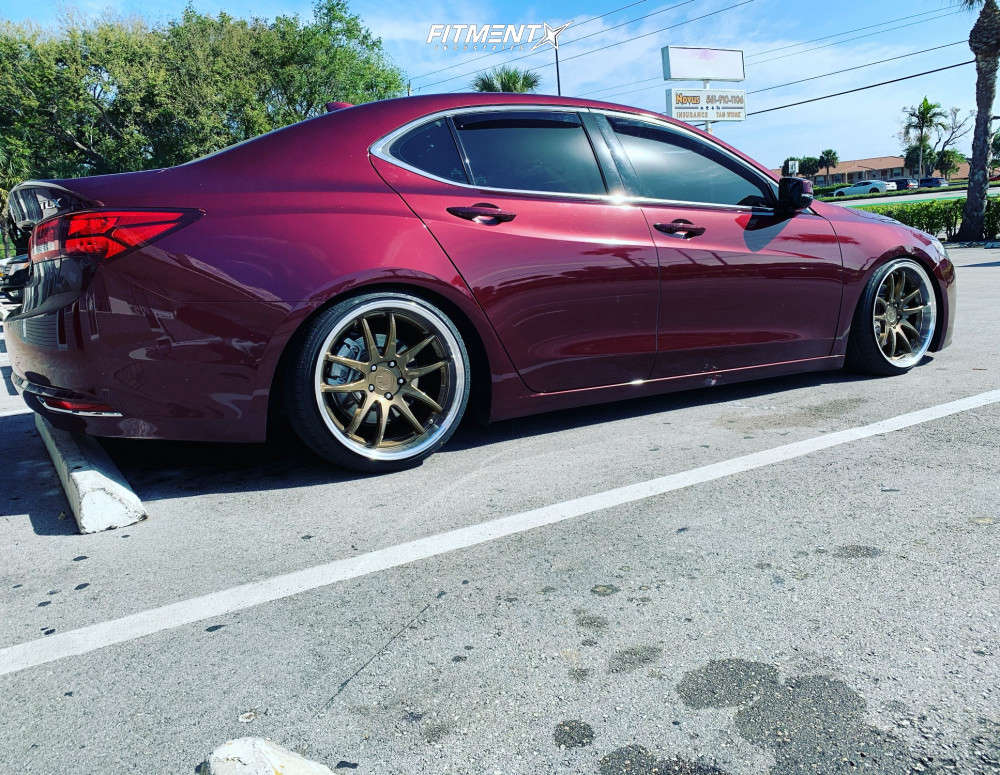 Nearly Flush 2015 Acura TLX with 19x9.5 Aodhan DS02 & Achilles Atr Sport 225/35 on Coilovers - Fitment Industries Gallery