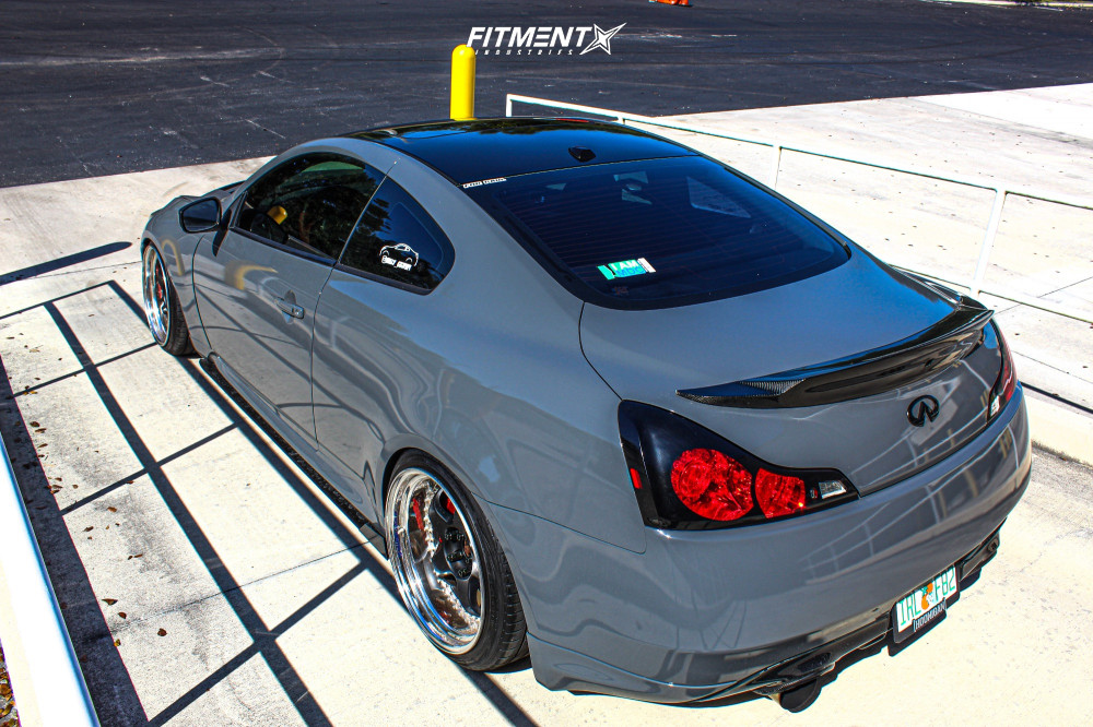 7 2009 G37 Infiniti Sport Bc Racing Coilovers Work Meister S1 3p Matte Black