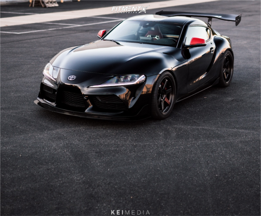 Nearly Flush 2020 Toyota GR Supra with 19x9.5 Volk Te37sl and Continental Extremecontact Sport 275/35 on Lowering Springs - Fitment Industries Gallery