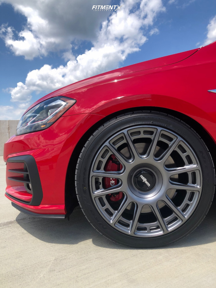 Flush 2019 Volkswagen GTI with 18x8.5 Rotiform Ozr and Nitto Neo Gen 235/40 on Lowering Springs - Fitment Industries Gallery
