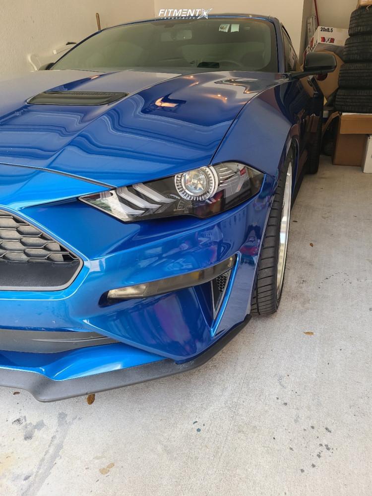 2 2018 Mustang Ford Ecoboost Steeda Lowering Springs F1r F28 Hyperblack