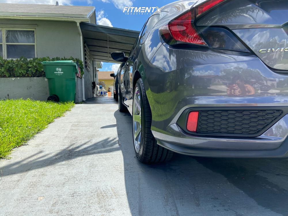 3 2020 Civic Honda Si Stock Air Suspension Avid1 Av06 Hyperblack