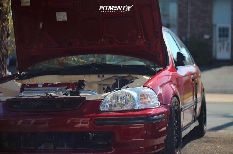 5 1998 Civic Honda Lx Yonaka Motorsports Coilovers Konig Tweaked Black