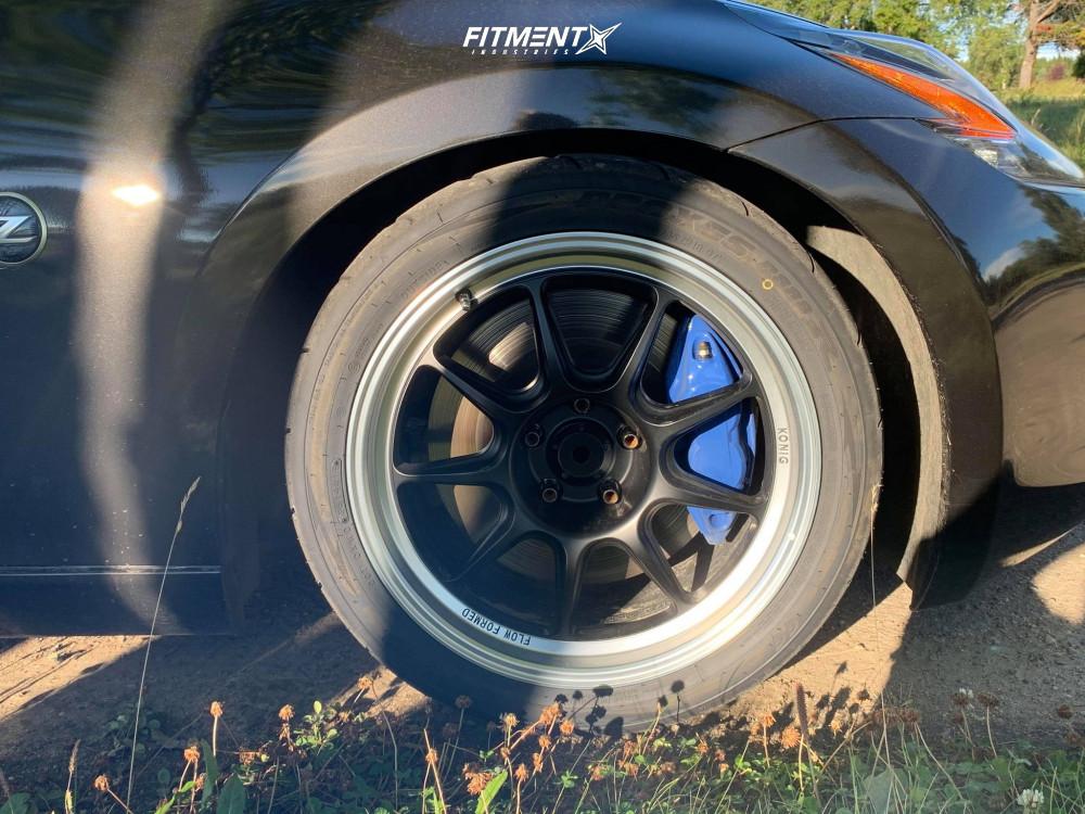 9 2017 370z Nissan Sport Koni Lowering Springs Konig Countergram Matte Black