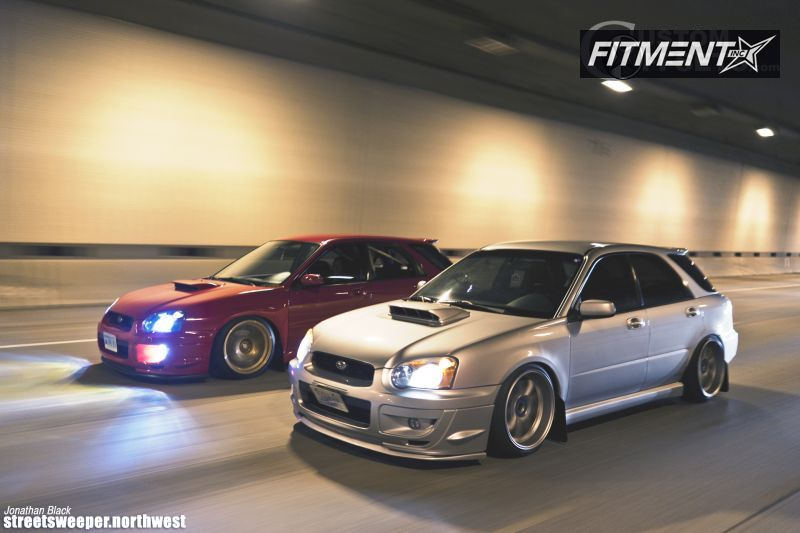 2004 subaru impreza work emotion lowered on springs. Black Bedroom Furniture Sets. Home Design Ideas