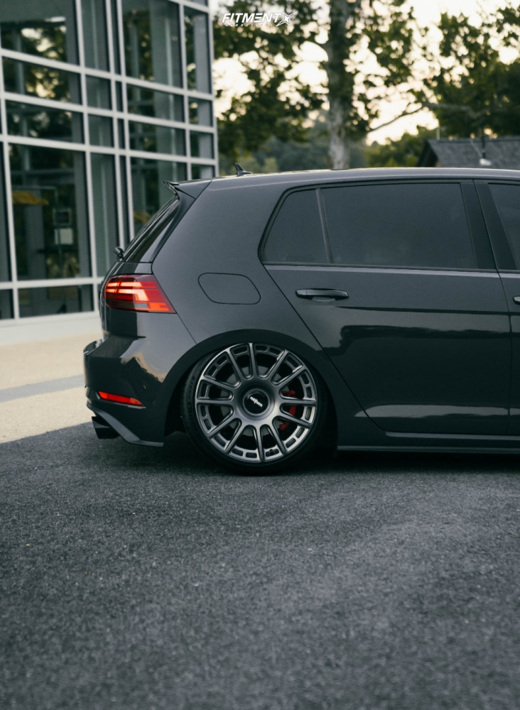 Tucked 2019 Volkswagen GTI with 19x8.5 Rotiform Ozr and Michelin Pilot Sport 4 S 225/30 on Air Suspension - Fitment Industries Gallery