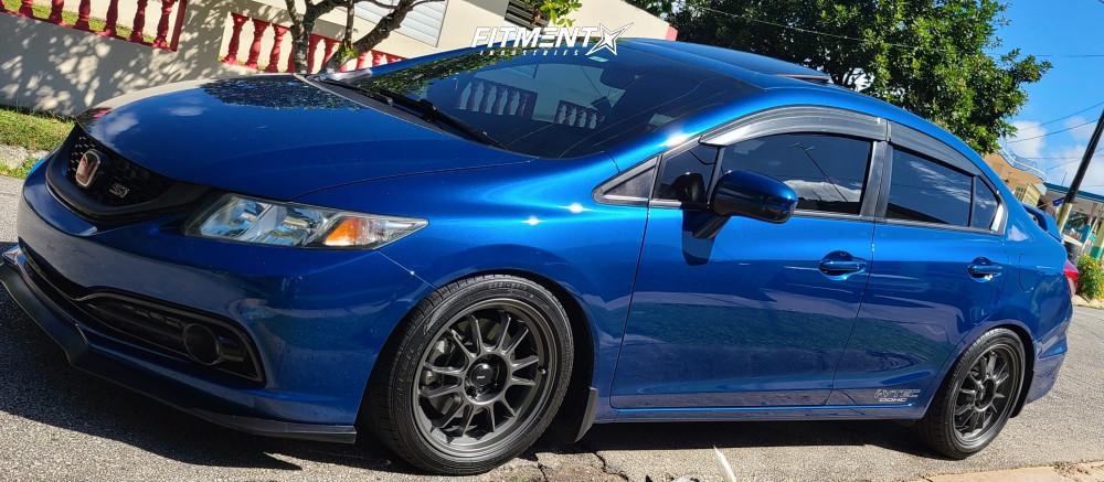 2 2014 Civic Honda Si Tein Lowering Springs Konig Hypergram Matte Black