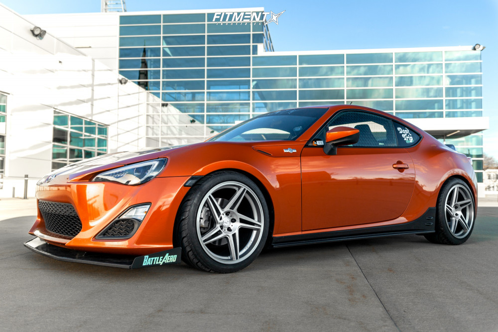Flush 2013 Scion FR-S with 18x9.5 Artisa ArtFormed Carrier and Federal 595 Rs-r 255/35 on Coilovers - Fitment Industries Gallery