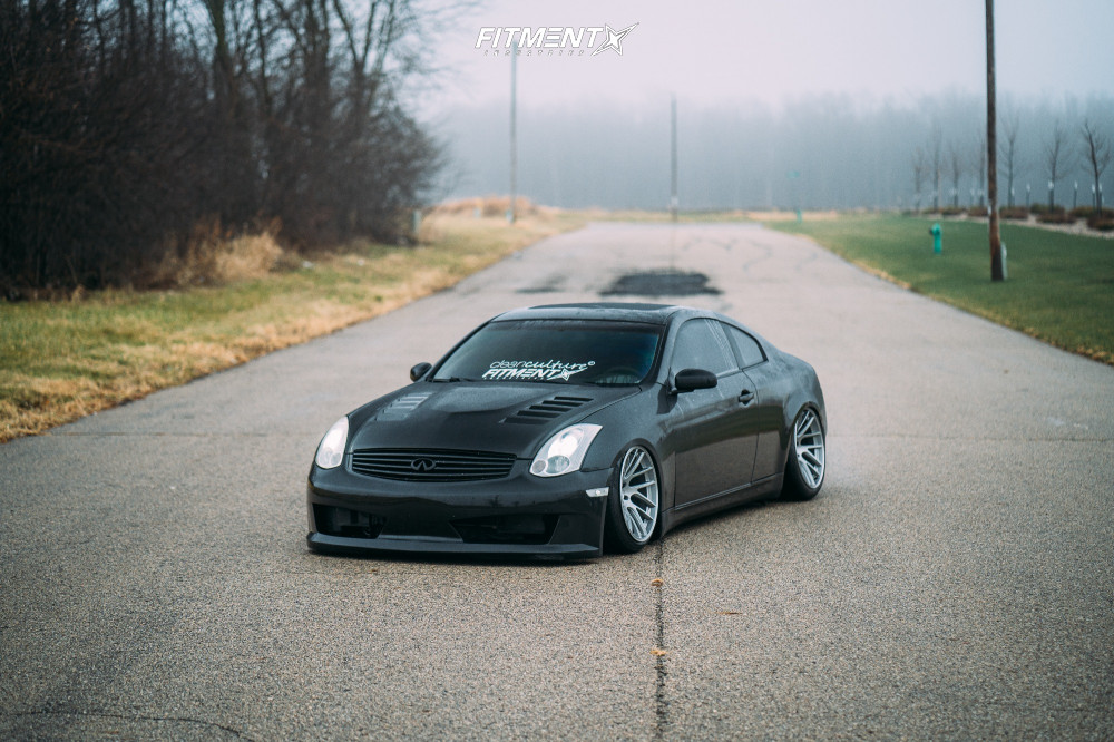 3 2004 G35 Infiniti Rwd 2dr Coupe W Leather 35l 6cyl 6m Air Lift Performance Air Suspension Artisa Elder Silver