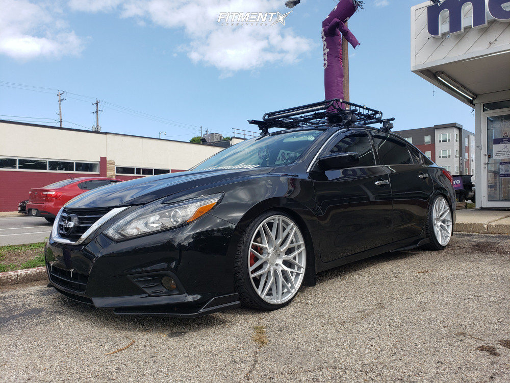 HellaFlush 2016 Nissan Altima with 20x9 F1R F103 and Advanta Hp 225/30 on Coilovers - Fitment Industries Gallery
