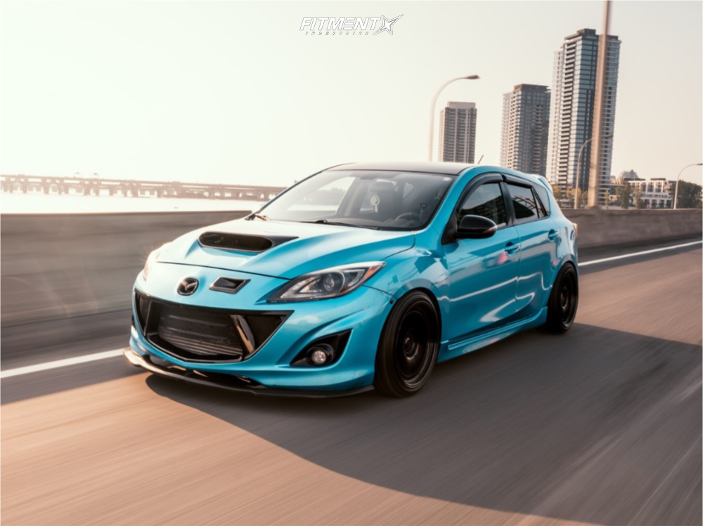 Blue Lowered Mazdaspeed3