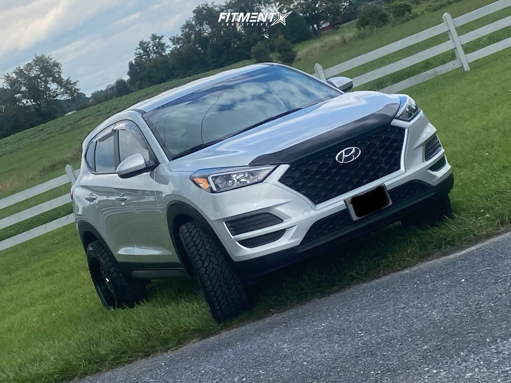 2019 Hyundai Tucson Base With 20x10 Helo He890 And General Grabber 275x45 On Lifted Suspension 1512143 Fitment Industries