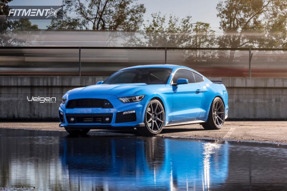 1 2017 Mustang Ford Stock Velgen Wheels Clic5 Gunmetal Flush