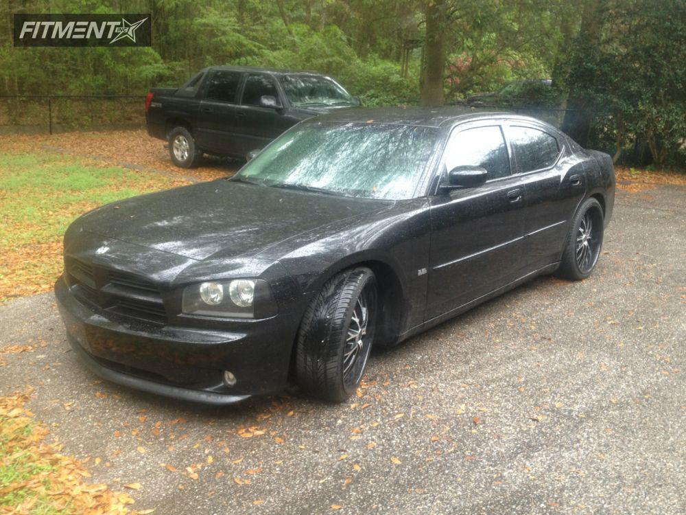 4 2006 Charger Dodge Dropped 1 3 Lorenzo Wl027 Black Slightly Aggressive