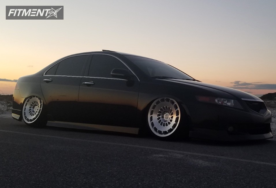 Tsx Acura Bagged Rotiform Ccv Silver Tucked