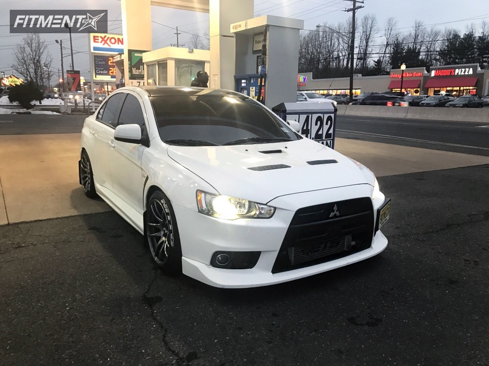 1 2014 Lancer Mitsubishi Lowering Springs Esr Sr08 Custom Flush