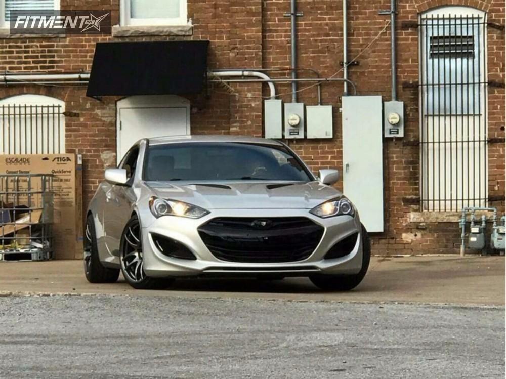 1 2013 Genesis Coupe Hyundai Lowering Springs Vordoven Forme 9 Gunmetal Poke