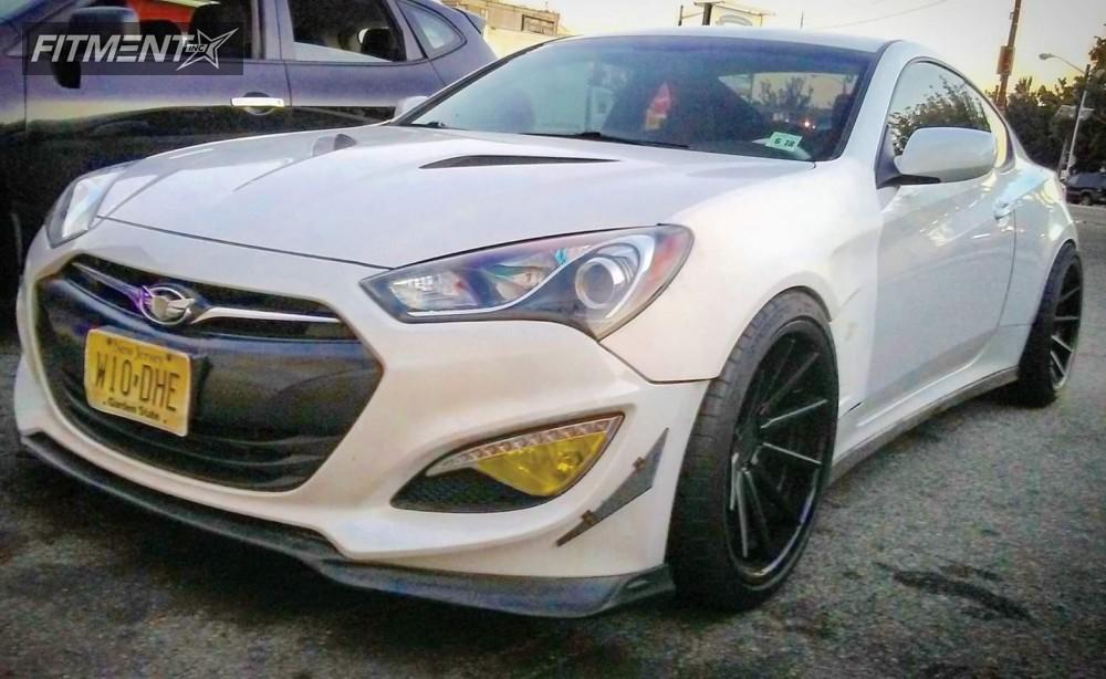 1 2013 Genesis Coupe Hyundai Lowering Springs Ferrada Other Black Flush
