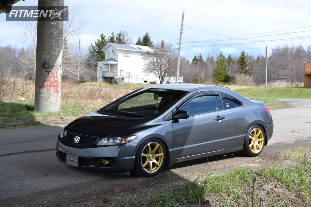 2010 honda civic rtx ink tein coilovers for Gold honda civic