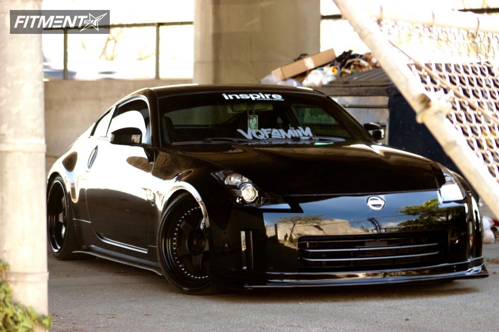 1 2007 350z Nissan Lowering Springs Work Meister S13p Black Tucked