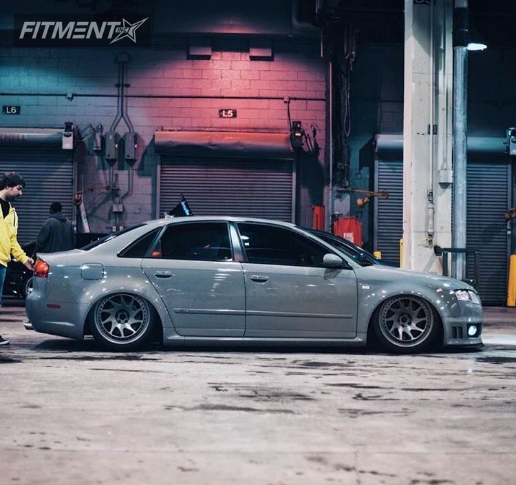 2 2008 Rs4 Audi Bagged Rotiform Ozt Anthracite Tucked
