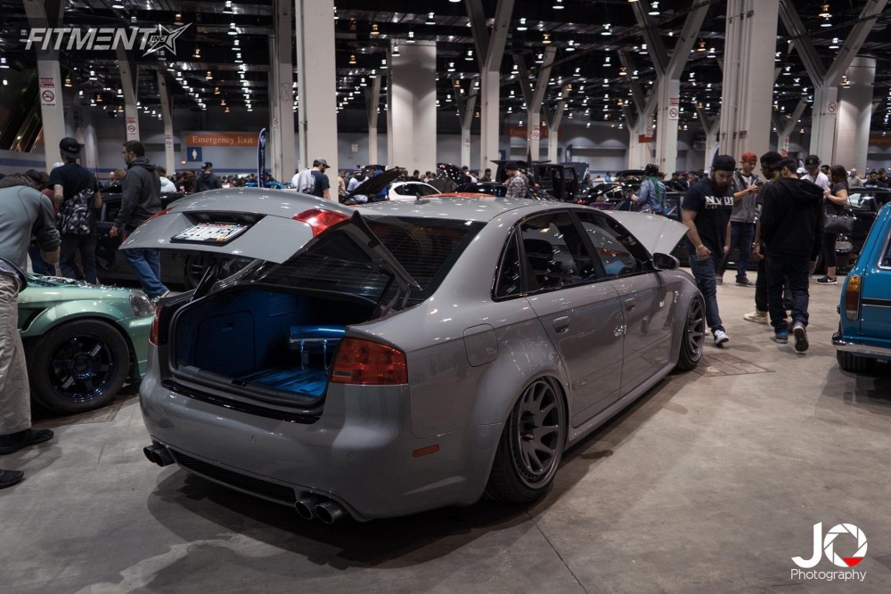 Bagged Nardo Gray Audi RS4