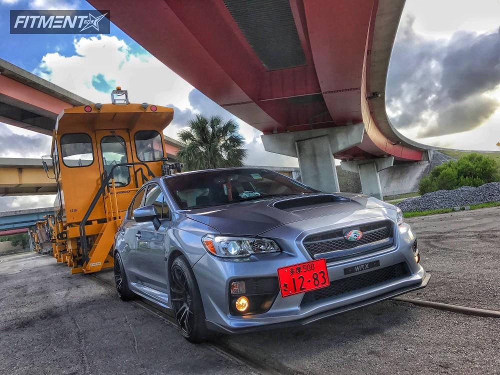 1 2017 Wrx Subaru Stock Avid1 Av20 Matte Black Hellaflush