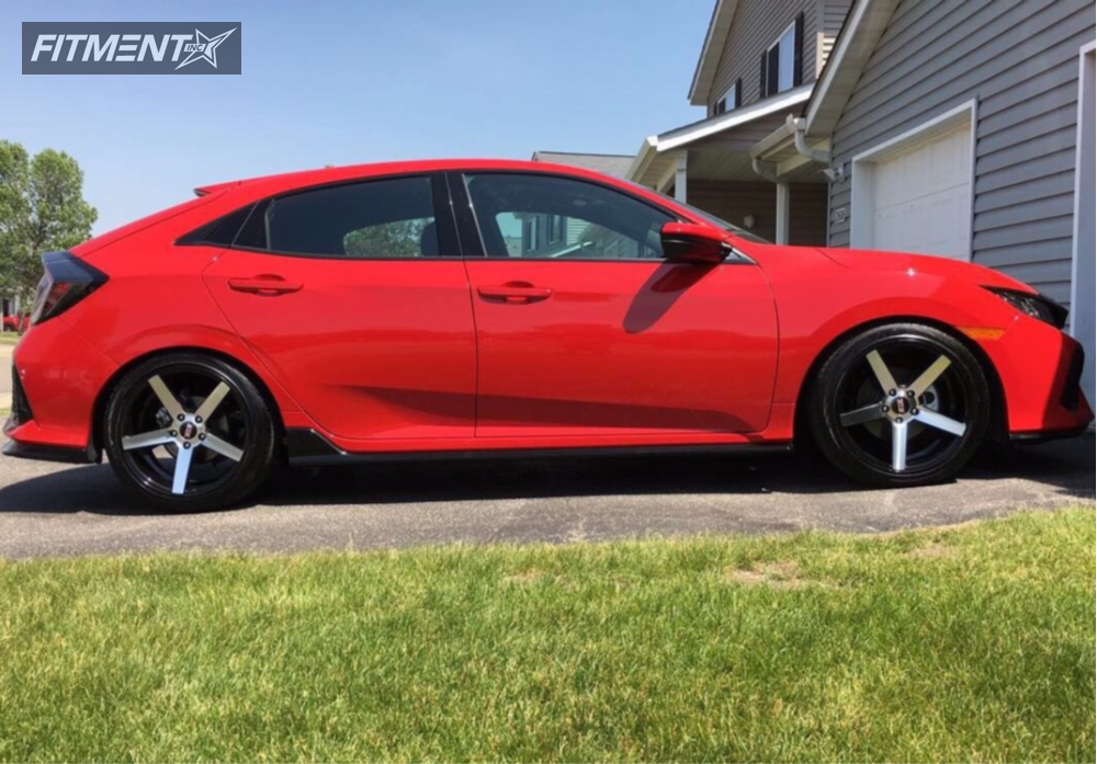 1 2017 Civic Honda Lowering Springs Str 607 Machined Accents Flush