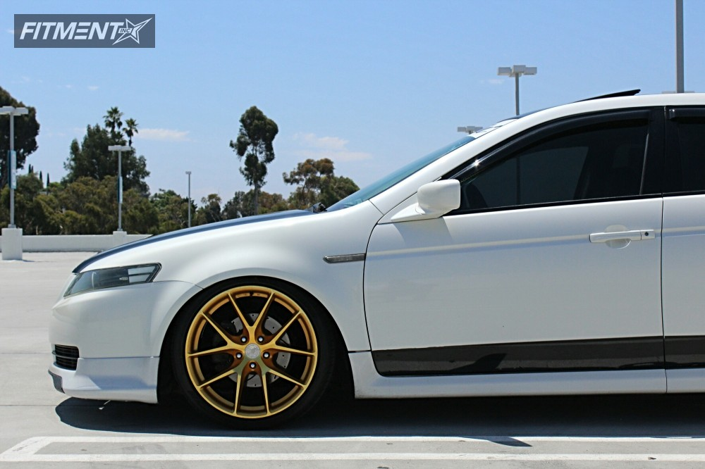 1 2004 Tl Acura Coilovers Aodhan Ls007 Gold Tucked
