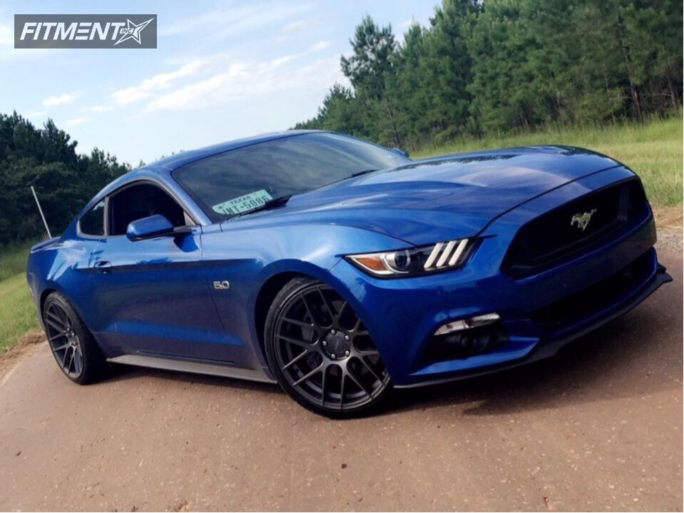 1 2017 Mustang Ford Lowering Springs Velgen Wheels Vmb7 Gunmetal Nearly Flush